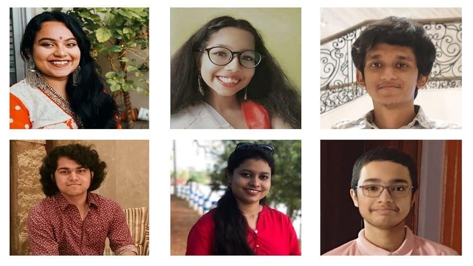 (L-R, clockwise) Bristi Saha, Monjita Sarkar, Soham Basu, Soham Misra, Soumi Ghosh, and Shubhayan Dey.