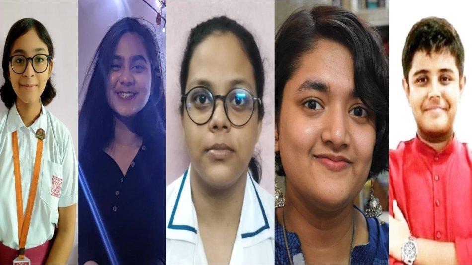 (from left to right) Mehuli Biswas, Anuja Deb, Aatreyi Sarkar, Srestha Ghosh, Aryan Mukherjee talk about their best Durga Pujo memories.