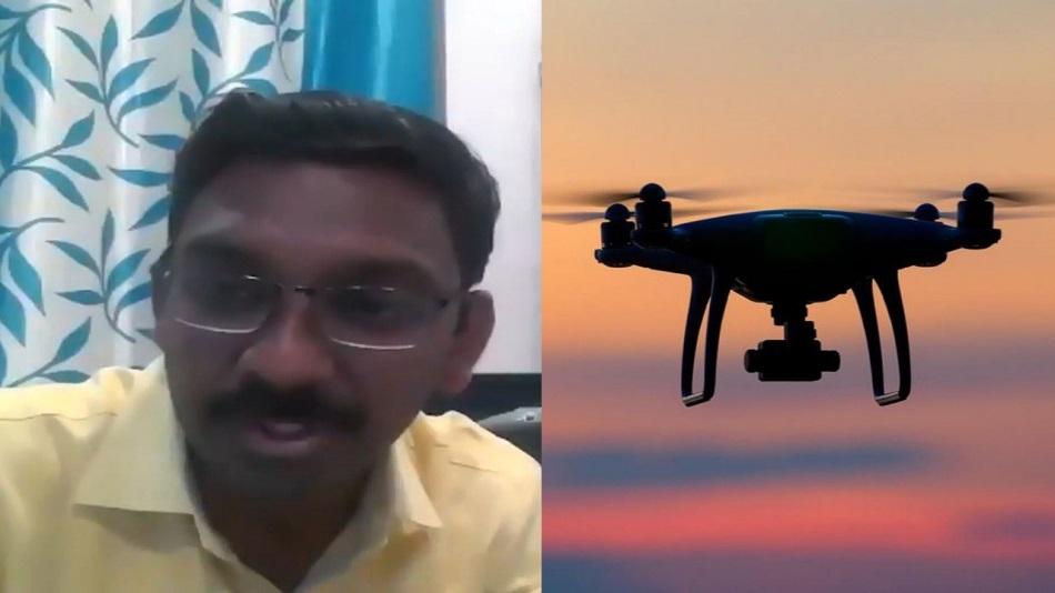 Pranav Chitte spoke on career in drone technology. Source: Facebook