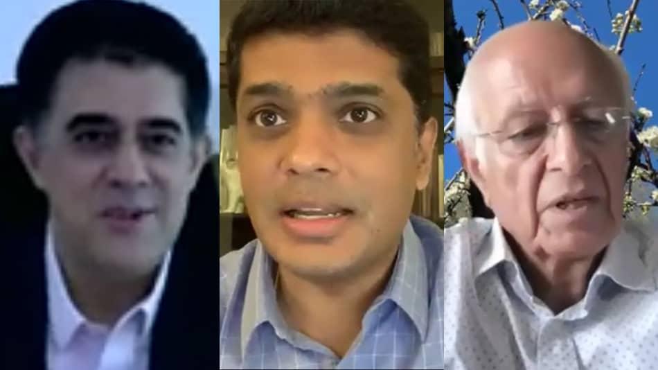 (L-R) Rajan Navani, Shankar Vanavarayar and Arun Maira.