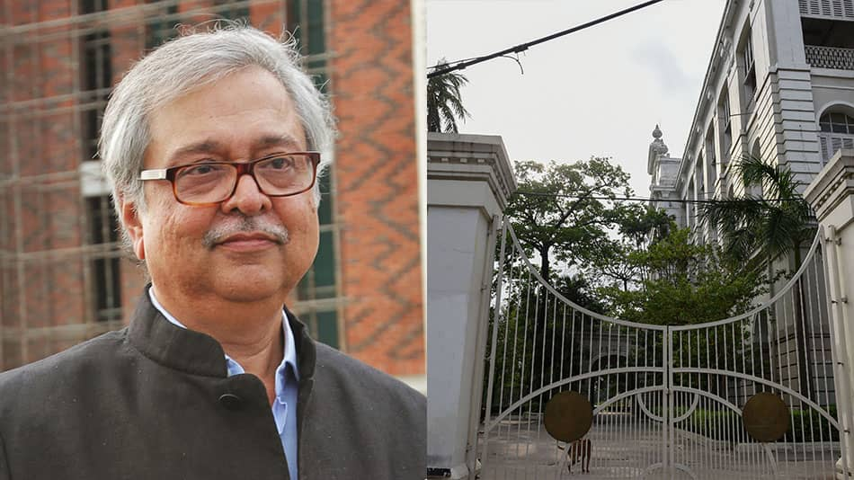 Rudrangshu Mukherjee traced the history of modern education in India from the setting up of Hindu College, which went on to become (right) Presidency College.