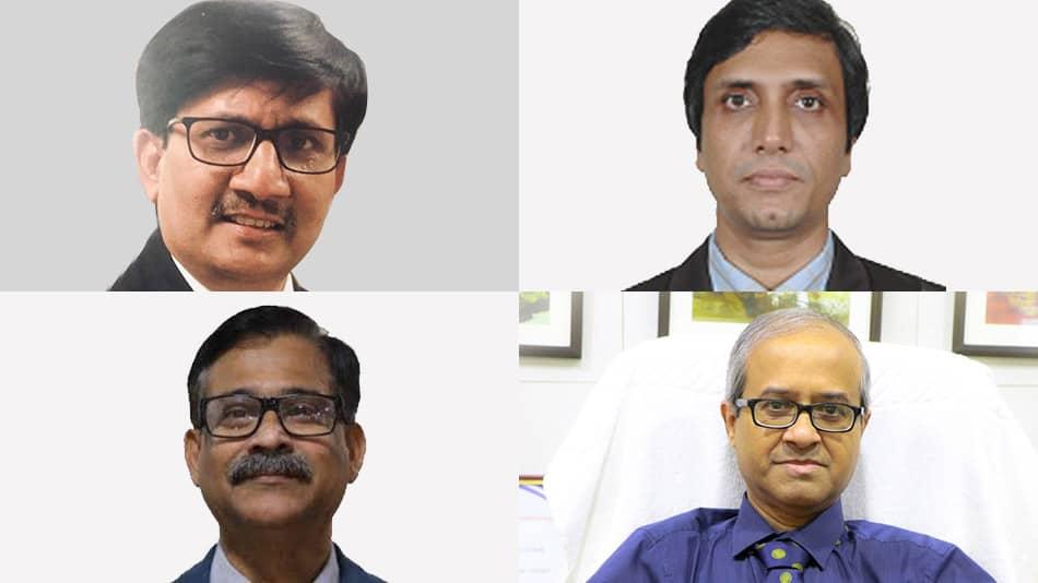 (Clockwise from top left) Raman Jha, Saikat Maitra, Indranil Sen Gupta and Dhrubajyoti Chattopadhyay