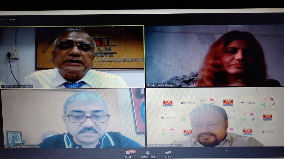 Clockwise – Prof R P Banerjee, Lucky Kulkarni, Bhaskar Bhattacharya and Sidhartha Ganguly.