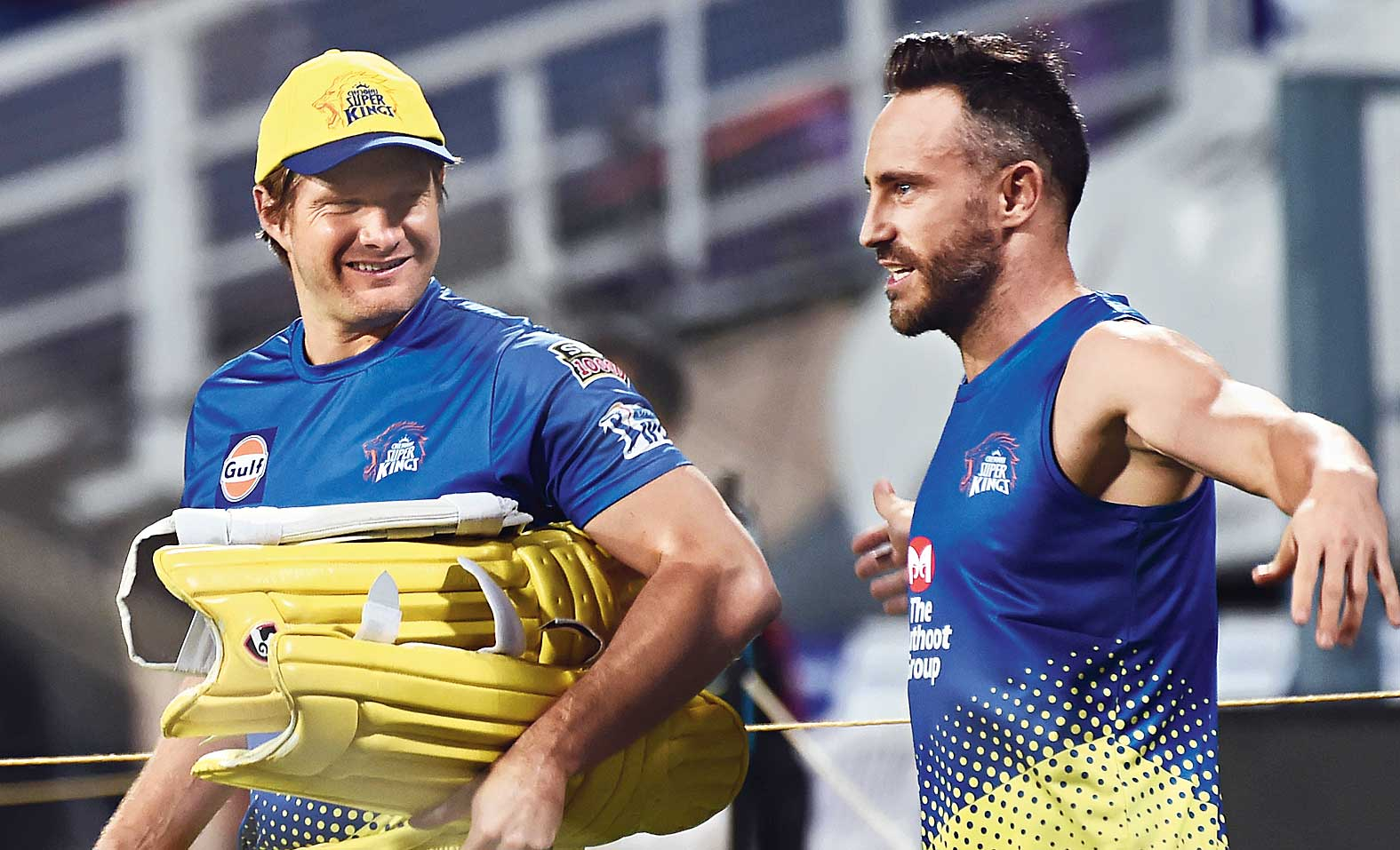 Shane Watson and Faf du Plessis at the Eden on Saturday.