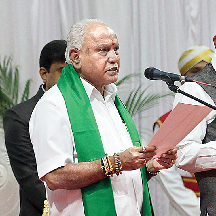 """""""They are all with us. We will keep only those who want to fight with us,"""" Yediyurappa said."""