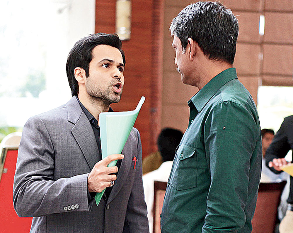 Emraan Hashmi and Adil Hussain in a scene from Tigers