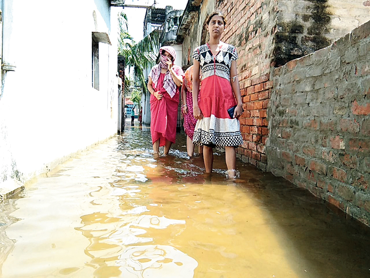A water-logged locality in Basirhat.