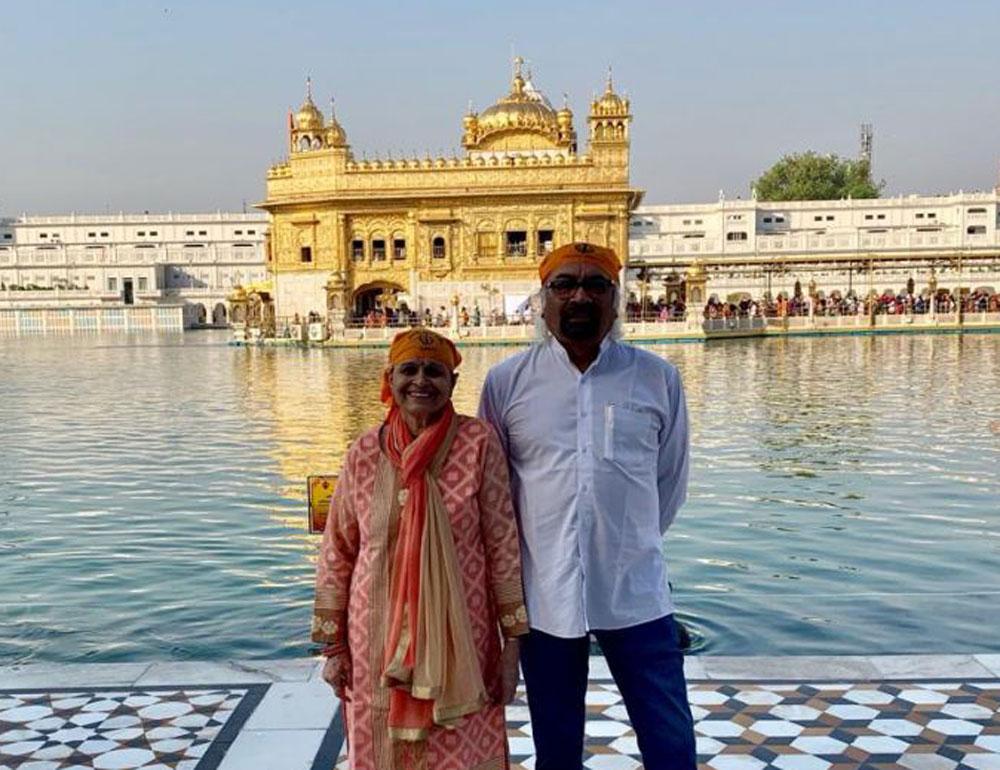 Damage control: Congress leader Sam Pitroda at the Golden temple