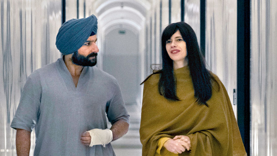 Saif Ali Khan as Sartaj Singh and Kalki Koechlin as Batya Abelman in Sacred Games 2