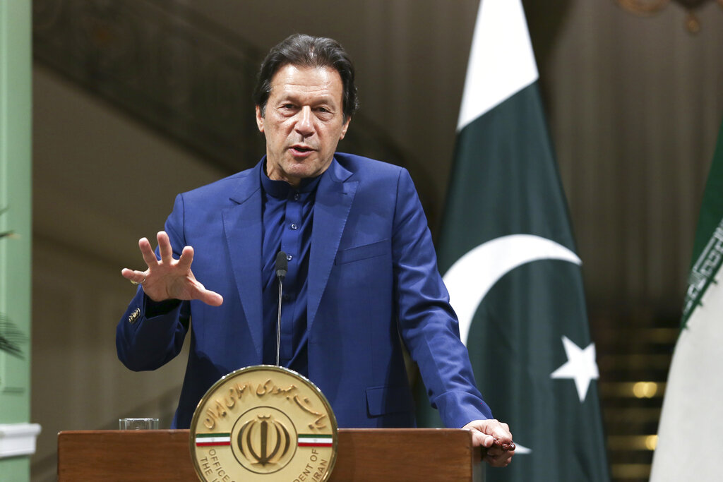 Pakistan Prime Minister Imran Khan reaffirmed the nation's