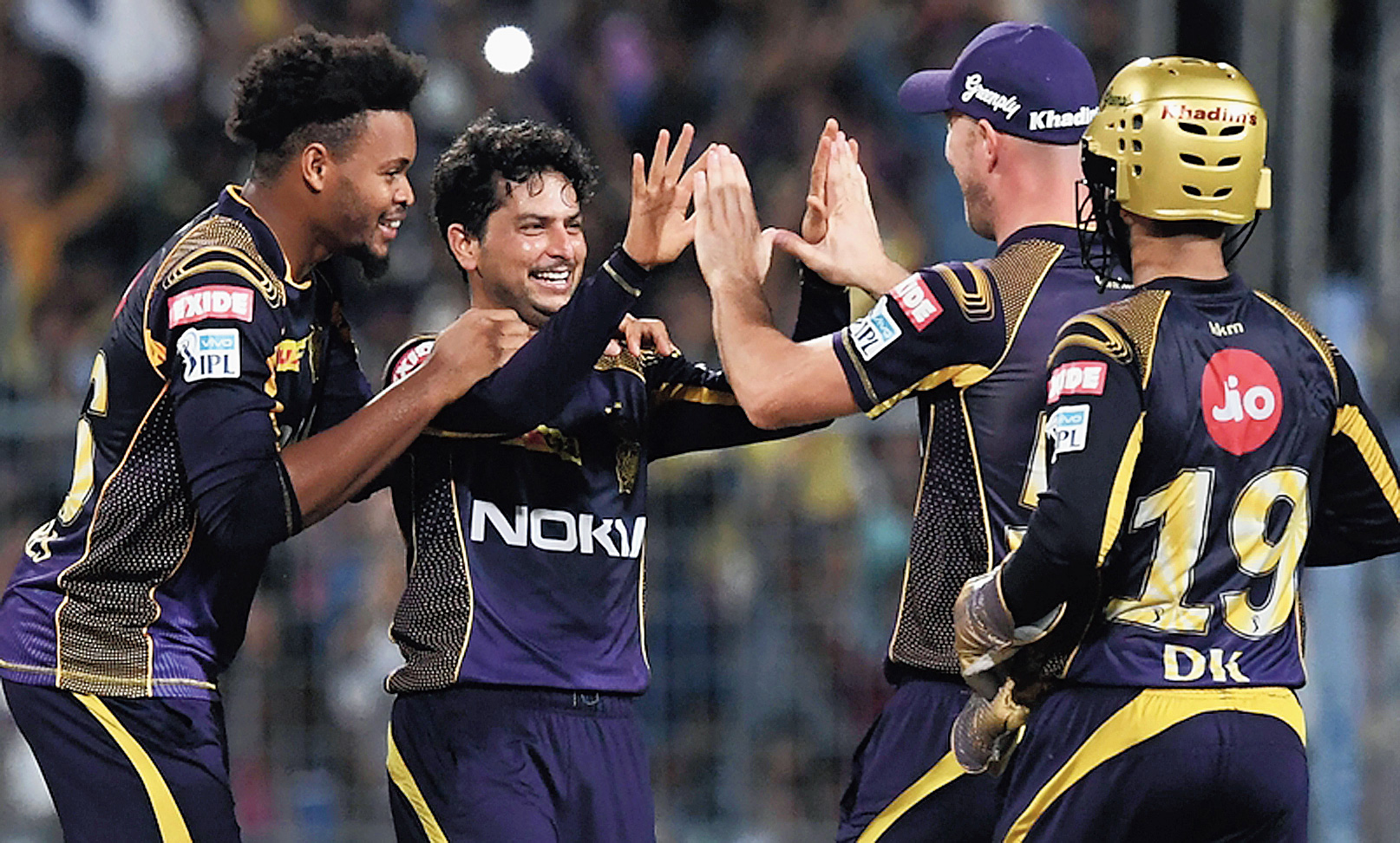Kolkata Knight Riders during the IPL 2018 Eliminator against Rajasthan Royals.