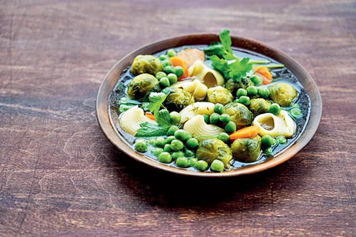 Green pea stew