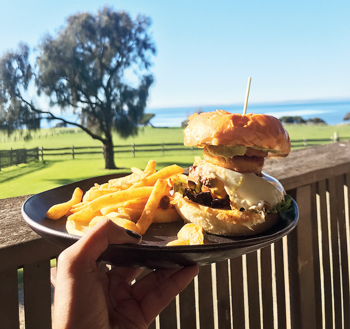 The best beef burger I have had till date plus a view to boot at the Churchill Island Visitor's Centre