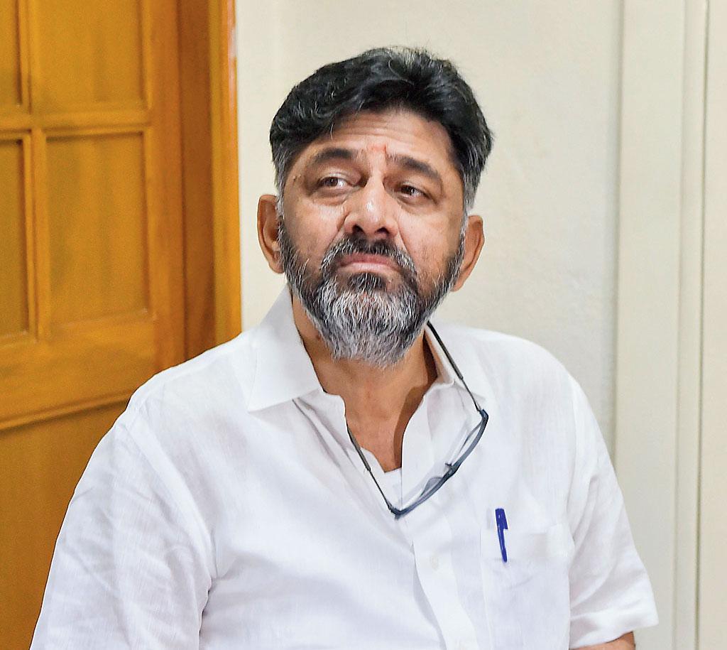 D K Shivakumar at AICC HQ New Delhi: Karnataka Congress leader D K Shivakumar at AICC headquarters, in New Delhi, Thursday, Oct. 24, 2019. Shivakumar was released from Tihar Jail on Wednesday evening following the Delhi High Court order granting him bail.