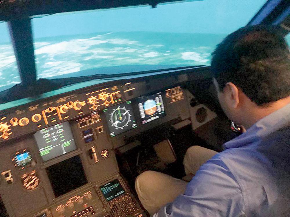 An Airbus simulator at Air India's Hyderabad training centre