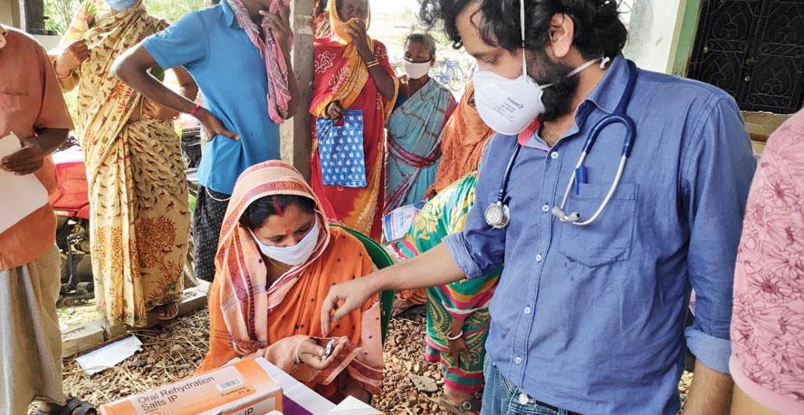 A health camp at Heramba-Gopalpur