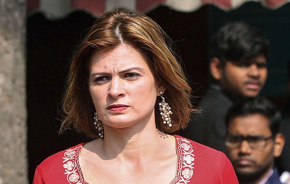 Sara, Omar's sister, in New Delhi on Wednesday.