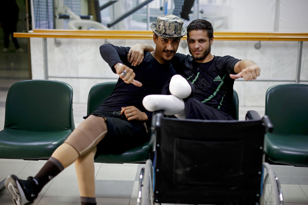 Syrian soldiers learn to live with their wounds