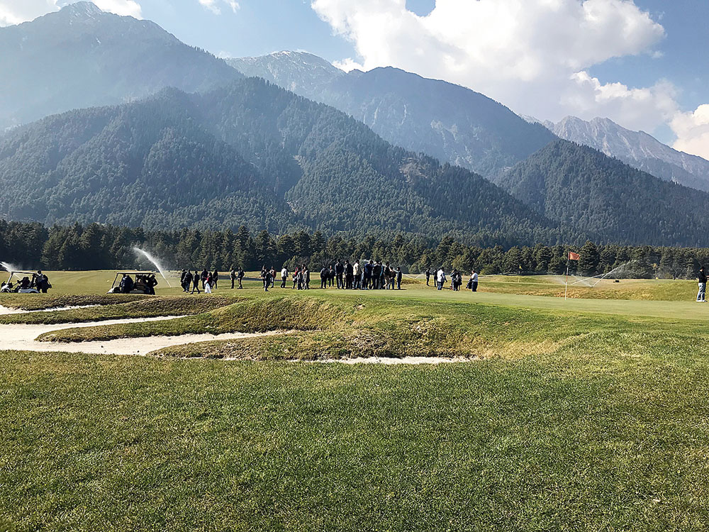 The golf course at Pahalgam Club