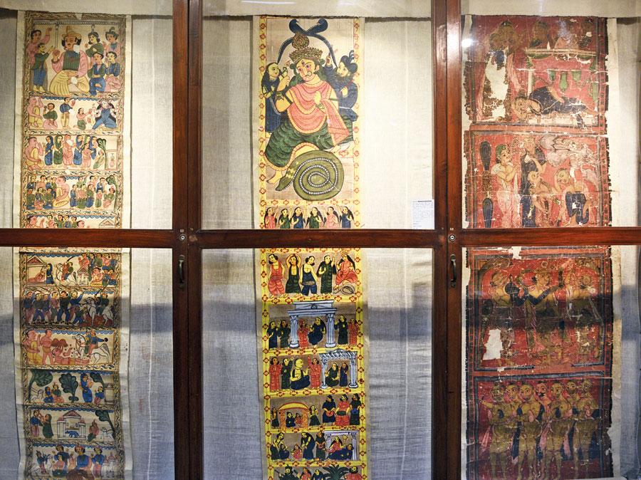 Artefacts on display at Gurusaday Museum in Joka