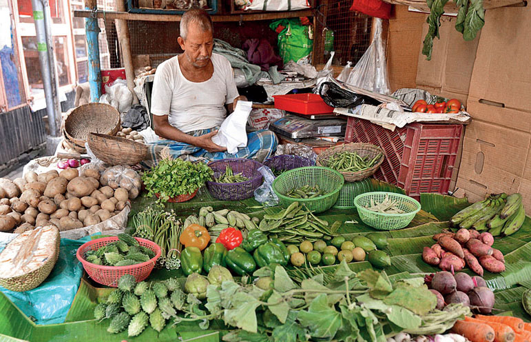 Vegetables at the Gariahat market in Calcutta.
