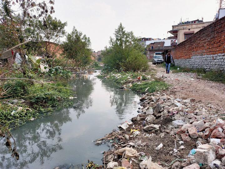 The open drain at Pahan Kocha in Lalpur, Ranchi, in which Akhil Oraon had fallen.