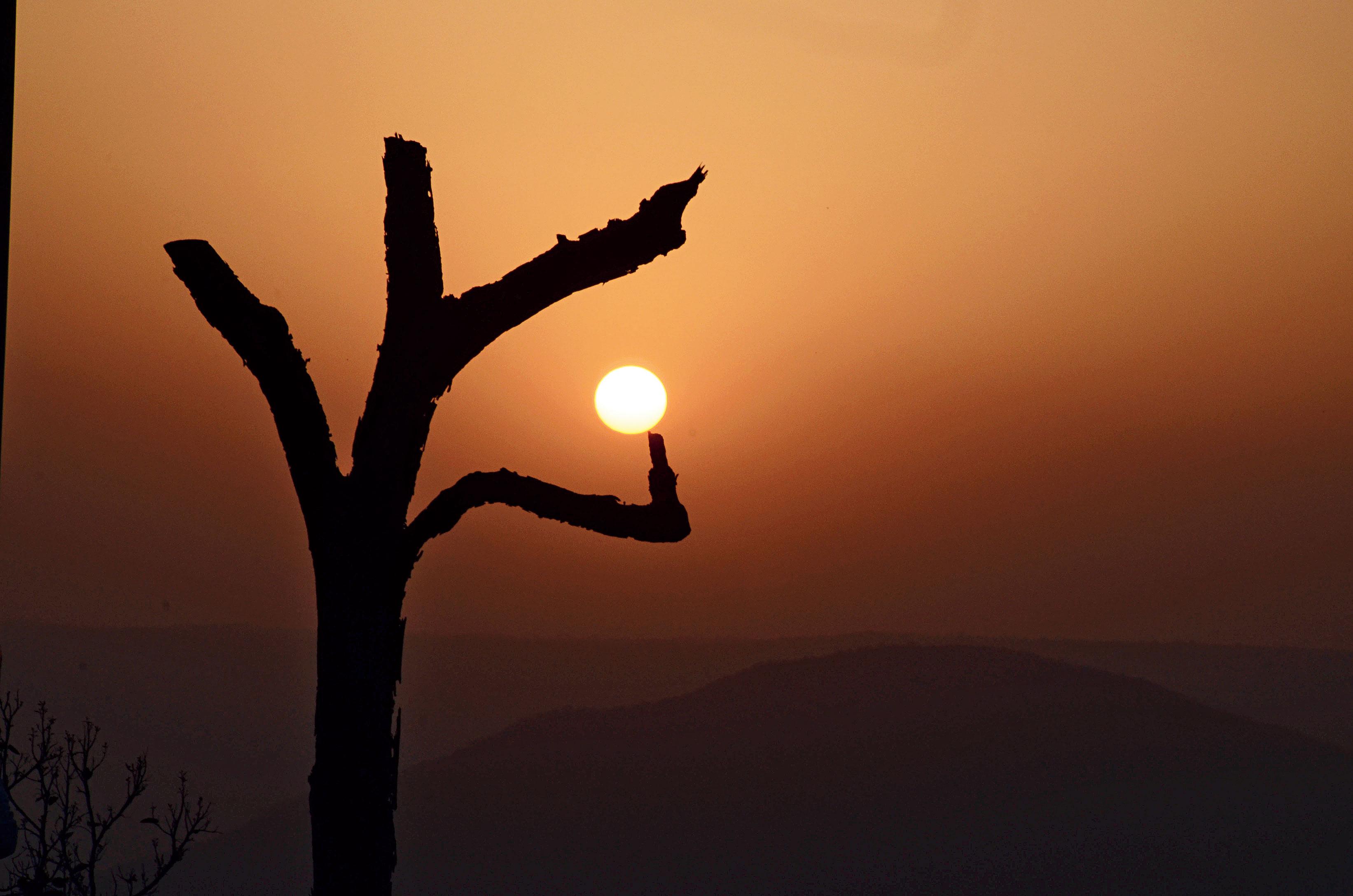 The sun sets at Netarhat in Latehar.