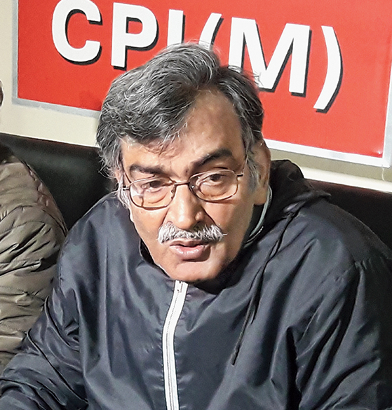 Mishra at the Darjeeling district CPM office in Siliguri on Friday.
