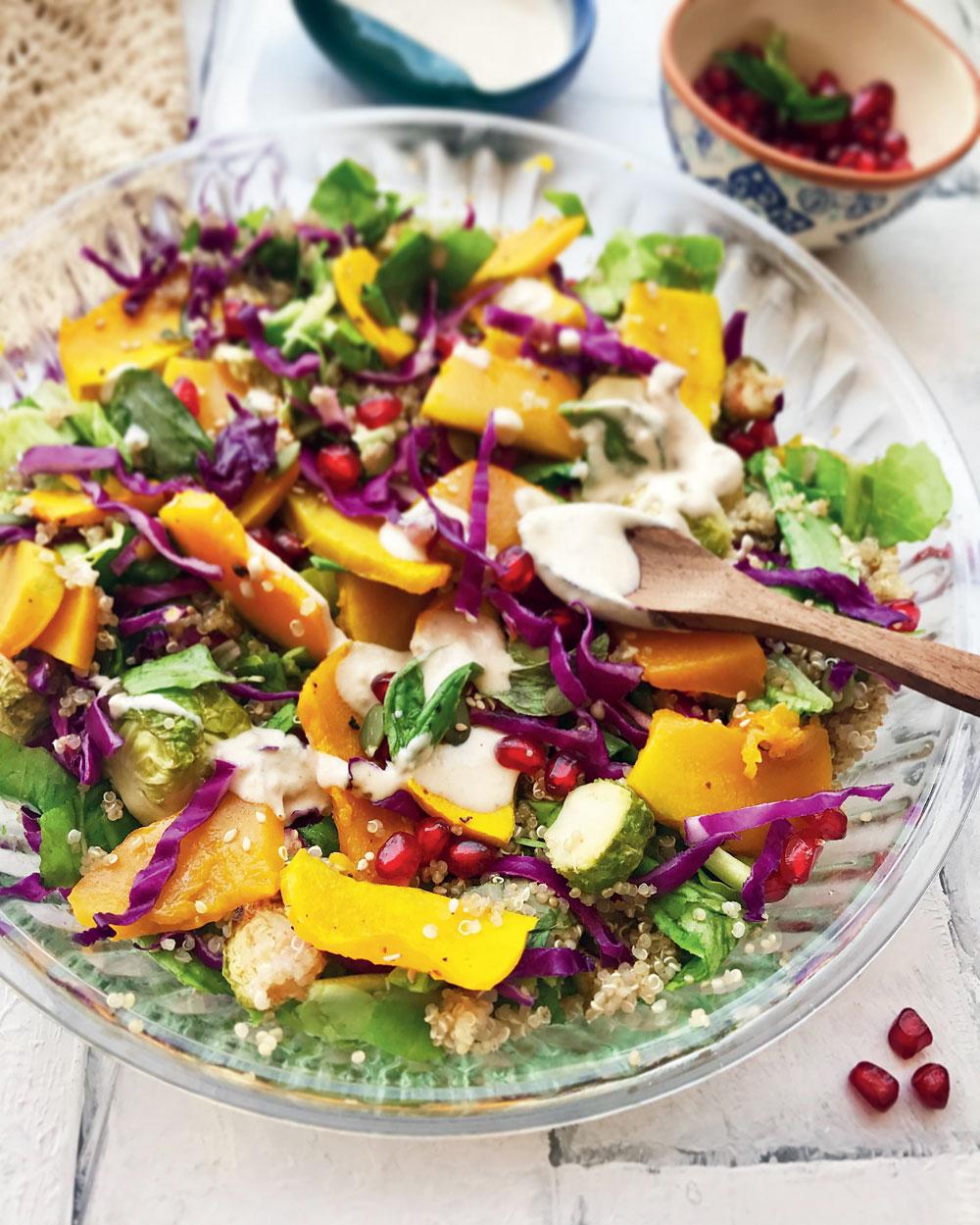 Roast pumpkin, quinoa & lentil salad
