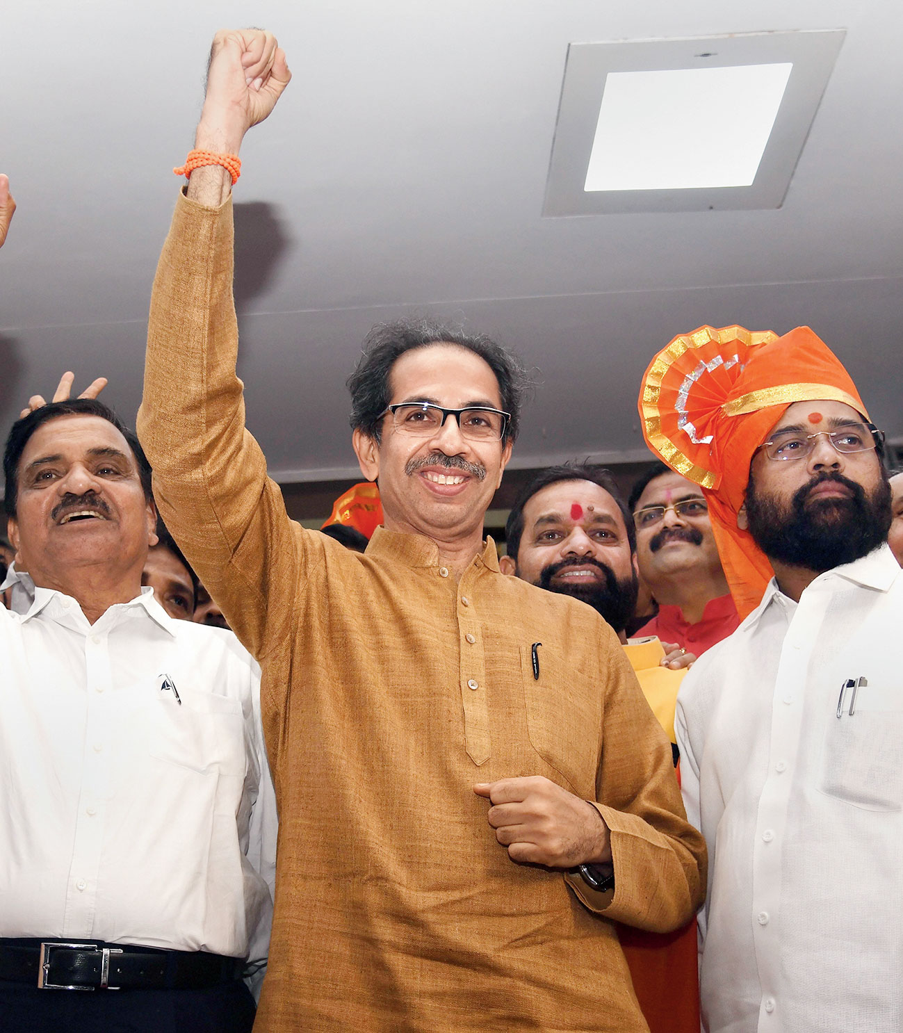 Uddhav Thackeray after the Shiv Sena-NCP-Congress alliance won the floor test in the Maharashtra Assembly on Saturday.