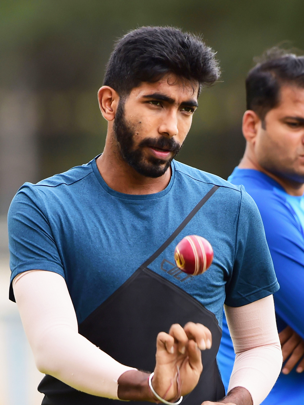Jasprit Bumrah during a practice session ahead of the 3rd T20 match against South Africa at Chinnaswamy Stadium, in Bangalore, Friday, September 20, 2019.