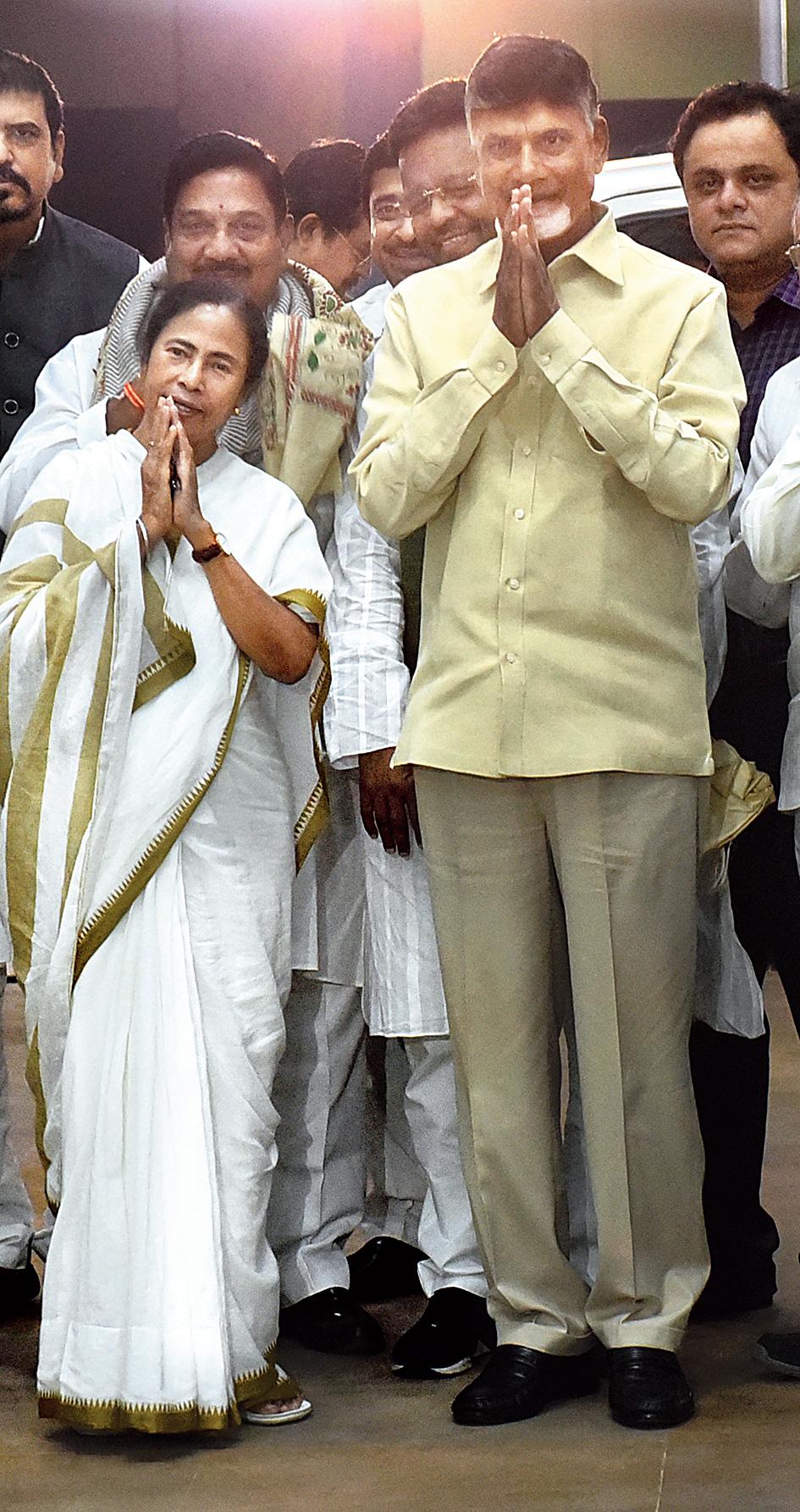 Mamata and Naidu at Nabanna.