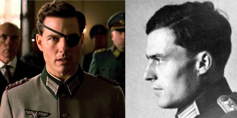 (Left to right) Tom Cruise, and Colonel Claus Graf Schenk von Stauffenberg