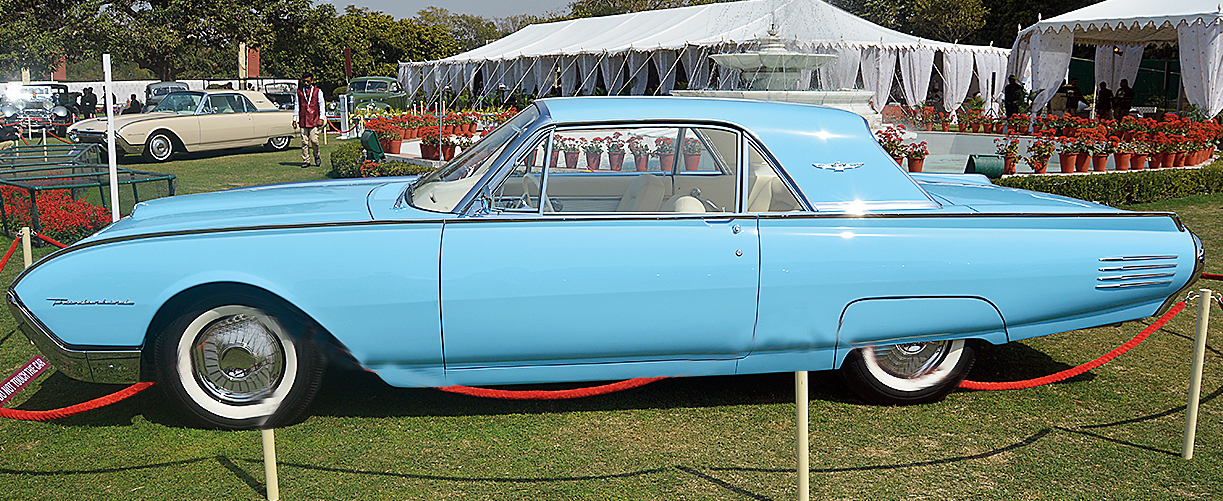 This year there was a special class for Ford Thunderbirds. This immaculate hardtop coupe from 1961 belonging to Viveck and Zita Goenka from Mumbai took the Best in Class.