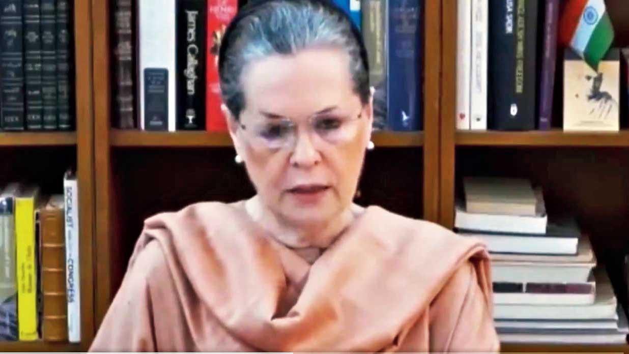 Sonia Gandhi in New Delhi on Thursday