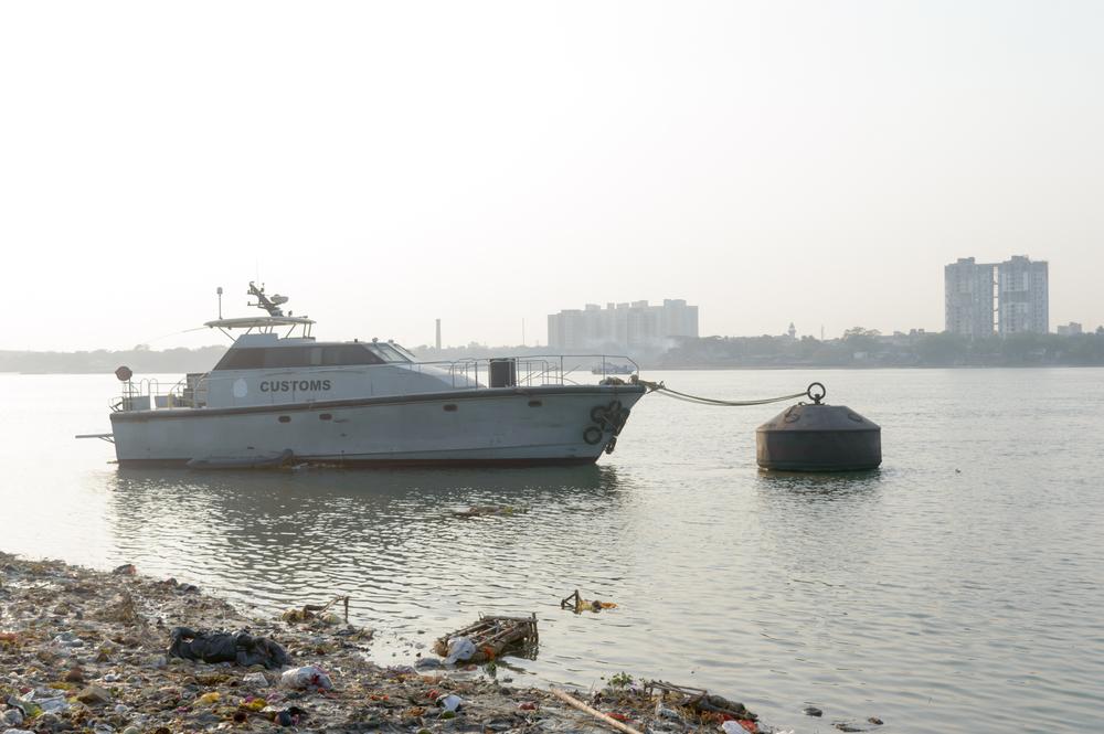 Ship anchored at Haldia port