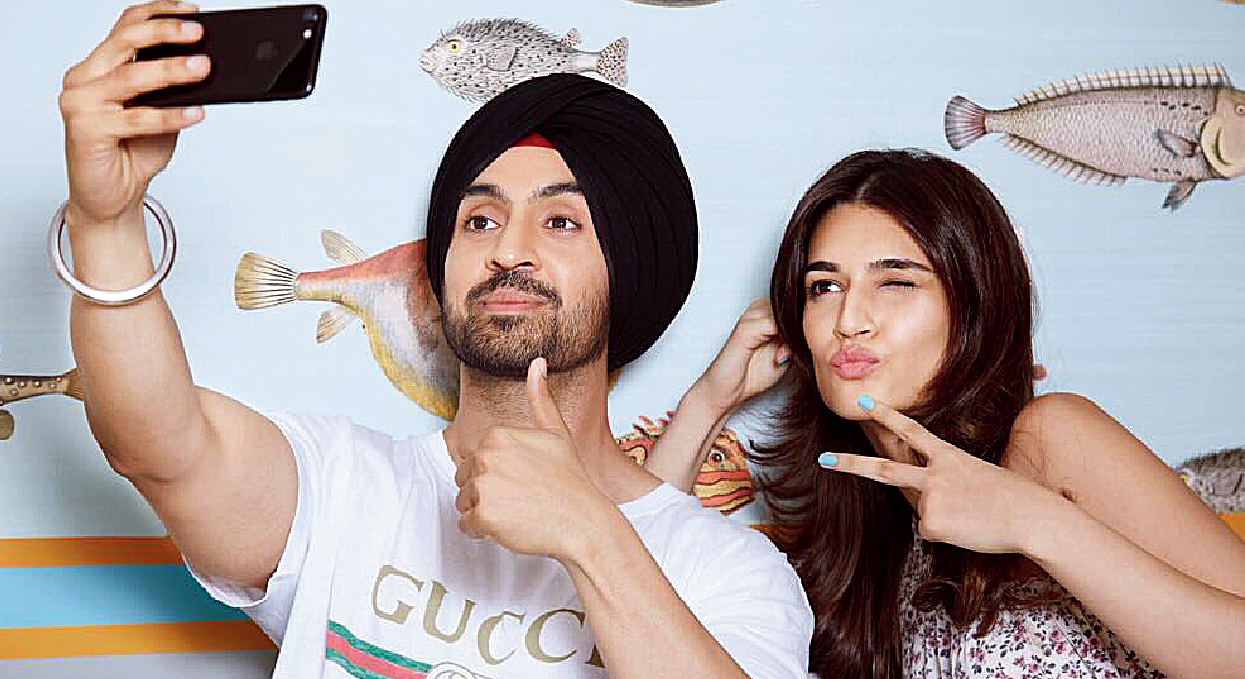 He (Diljit Dosanjh) is very shy as a person. But the moment the camera rolls, you see a different person. He wouldn't be talking at all before the shot and suddenly you're wondering what just happened. He's got great comic timing- Kriti Sanon