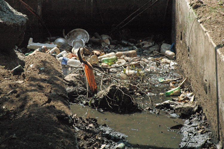 A clogged drain near district collectorate in Jamshedpur.