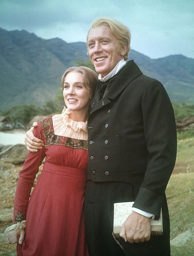 Julie Andrews and Max von Sydow in the film Hawaii (1966)