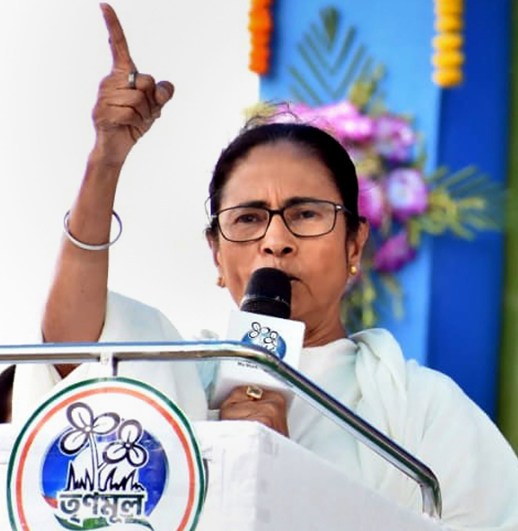 Mamata Banerjee addresses an election campaign rally for Lok Sabha polls, in Murshidabad on Wednesday, April 17, 2019.