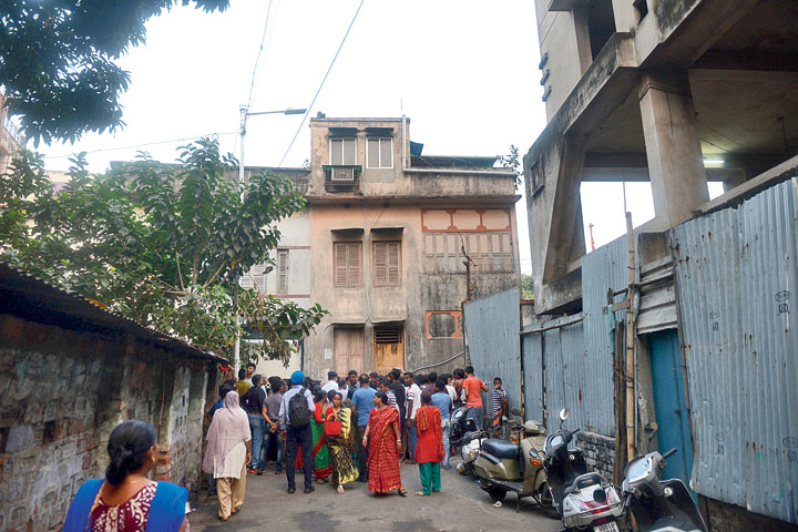 The two-storey building on Garcha First Lane where the crime occured, on Thursday.
