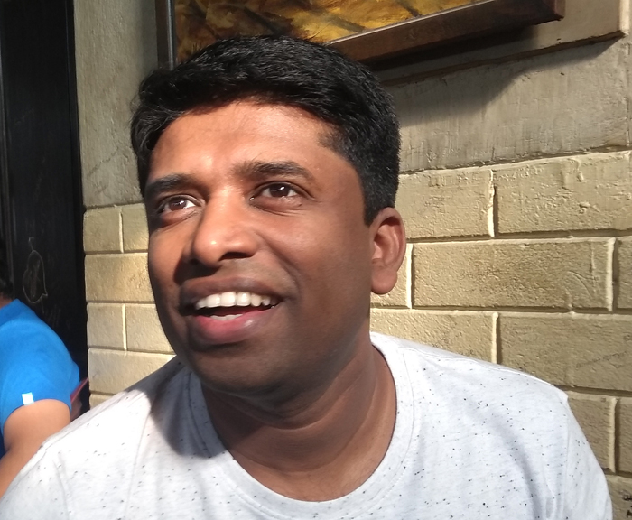 Kannan Gopinathan's sentences are peppered with questions, most of which are rhetorical