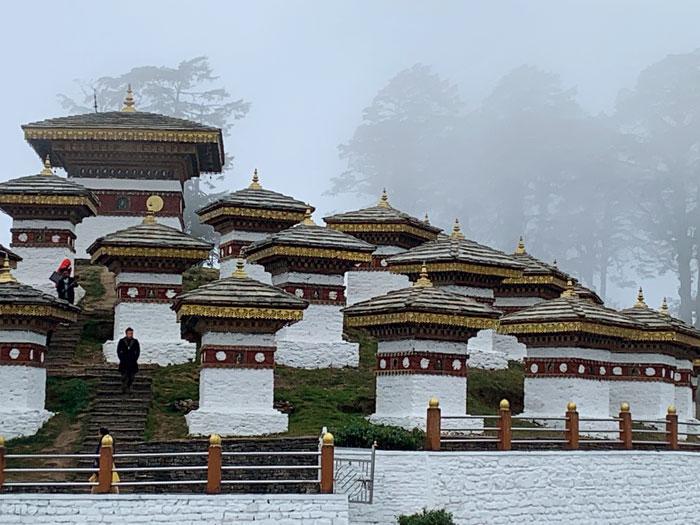 108 chortens or Buddhist shrines at Dochula Pass