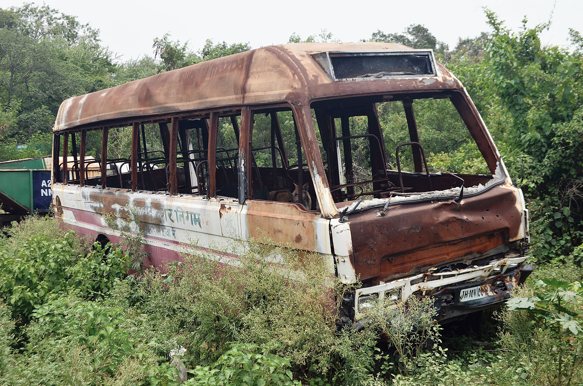A dilapidated city bus at Bartand in Dhanbad on Wednesday