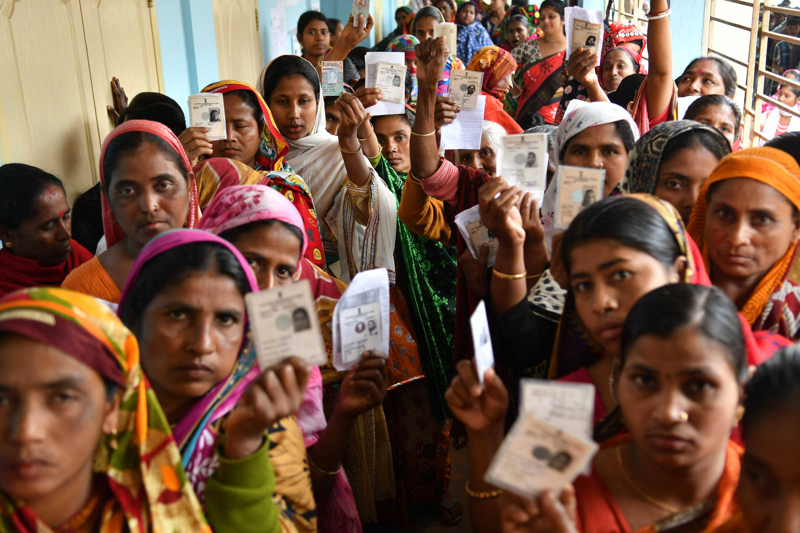File photo of voters in Agartala. The 91st amendment extended the 25-year-old freeze on the total number and state-wise distribution of Lok Sabha seats until 2026 so that states that were successful in population control would not lose seats, and others would not gain at their expense