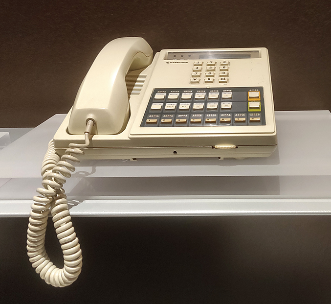 Key Phone System KP-832 (1984): The first electronic key phone in Korea