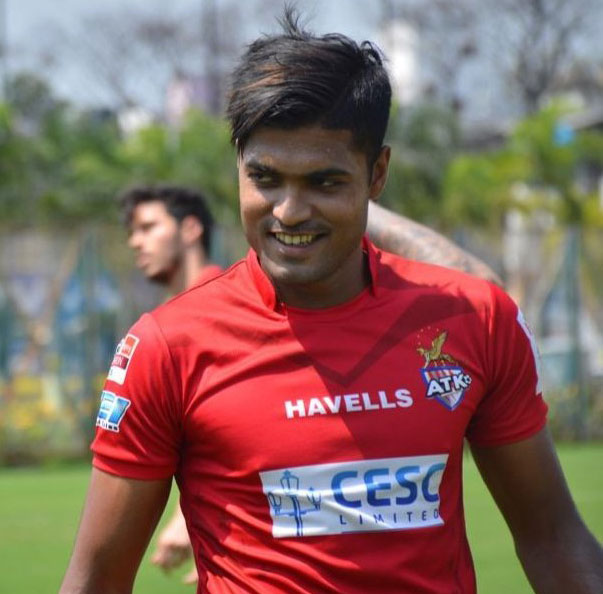 Pritam Kotal (in picture) scored 1st goal for ATK in 47th minute