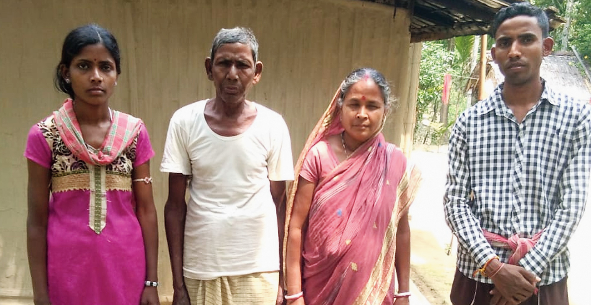 Kumud Ram Das with his family.