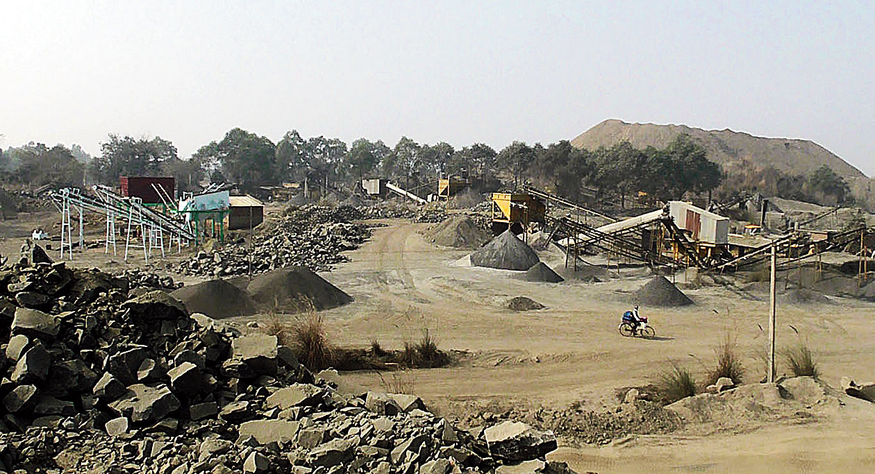 Part of the area where the Deocha-Pachami coal mine will be set up. At present, there are stone crushers or abandoned mines.