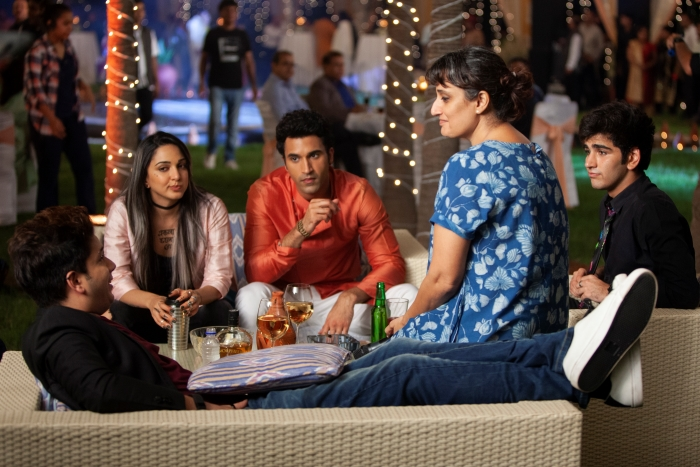 Ruchi Narain: Guilty director Ruchi Narain (in blue) with Kiara Advani and other cast members on the sets of the Netflix Original